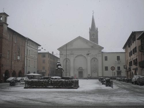 Carmagnola. Ancora neve sulla città