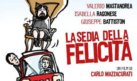 """Carmagnola. Cinema: venerdì all'Elios """"La sedia della felicità"""""""
