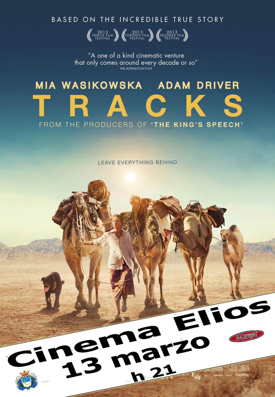 """Carmagnola. Al cinema Elios """"Tracks"""" venerdì 13 marzo"""