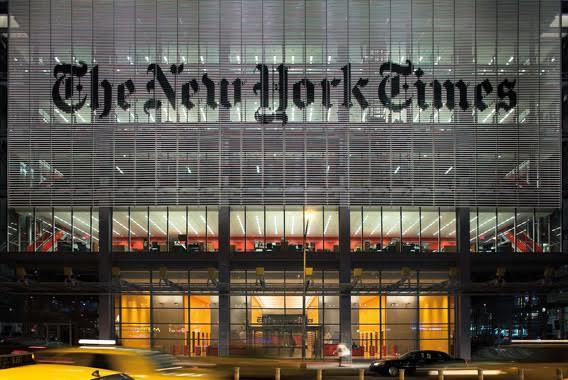 IL NEW YORK TIMES BUILDING SCEGLIE LA V2 DI RACCONIGI