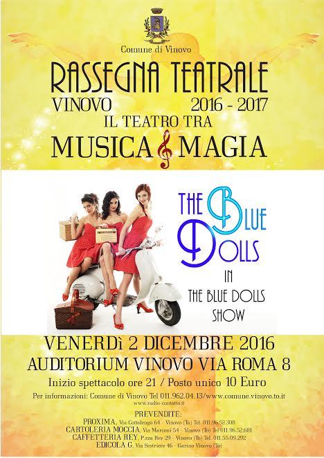 The Blue Dolls show a Vinovo il 2 dicembre