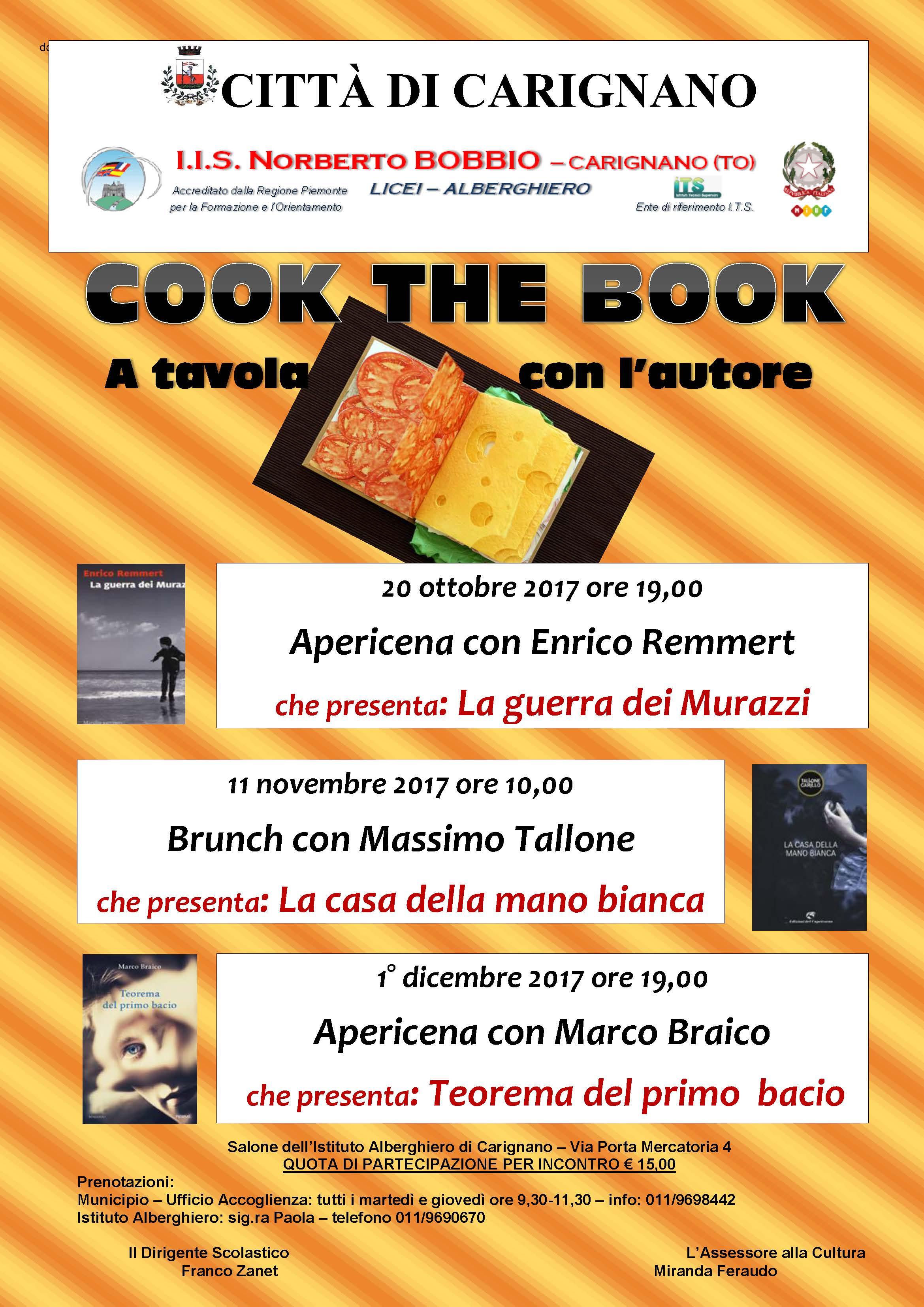 """Incontri con i migliori scrittori di """"Cook the book"""" tra letteratura e gusto"""