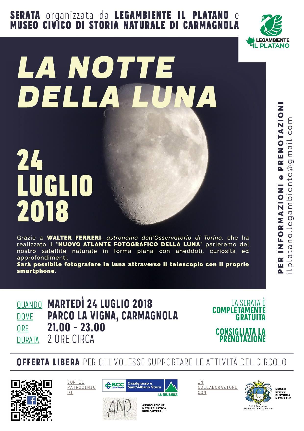 La luna al telescopio. Incontro con l'astronomo Walter Ferri