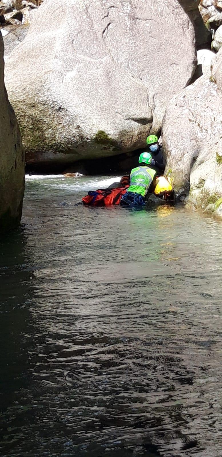 Recupero canyoning vallone di Piantonetto