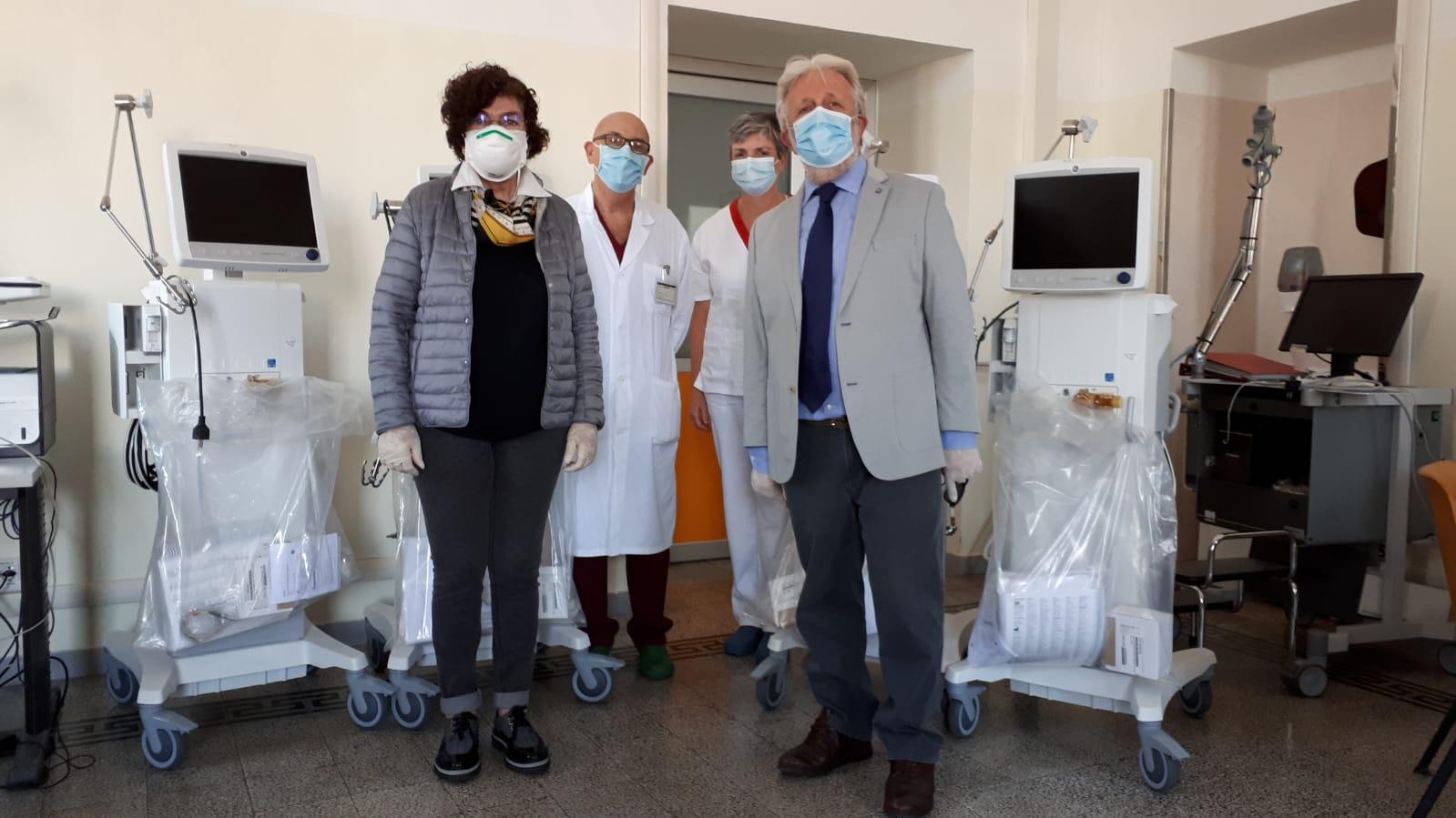 Quattro ventilatori polmonari per l'ospedale di Saluzzo
