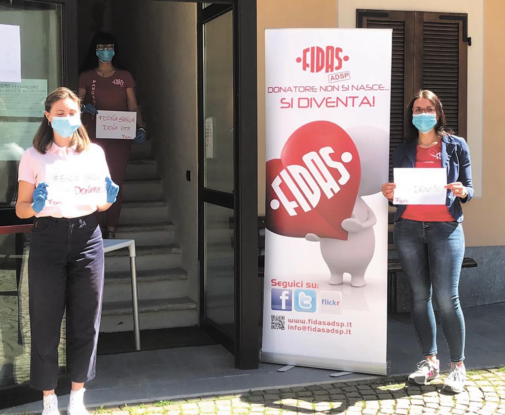 Fidas Pancalieri, donazioni di sangue sabato 11 e domenica 12 luglio