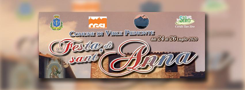 Festa di Sant'Anna in sicurezza a Virle Piemonte dal 24 luglio