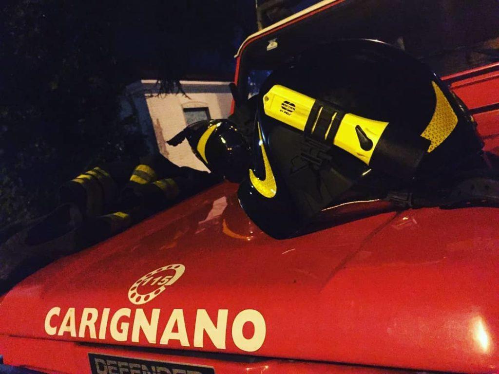 Vigili del fuoco carignano (foto VdF Carignano)
