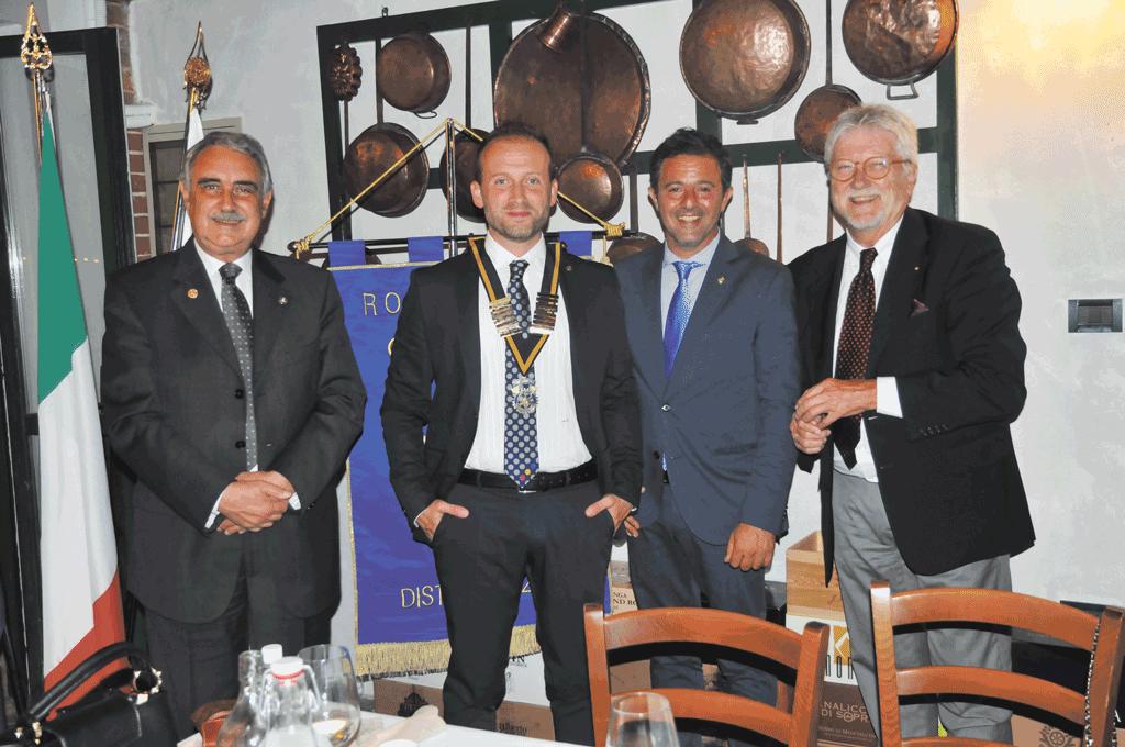 Rotary Club Carignano, Alfonso Pepe subentra a Fabrizio Viscardi