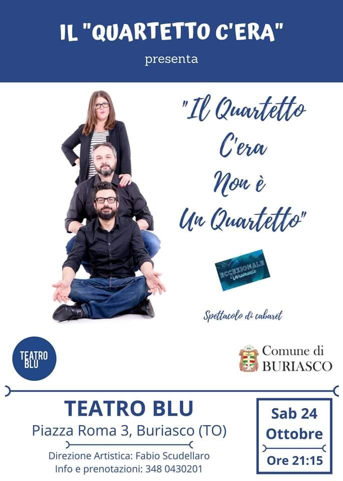Al Teatro Blu di Buriasco un sabato sera con il cabaret