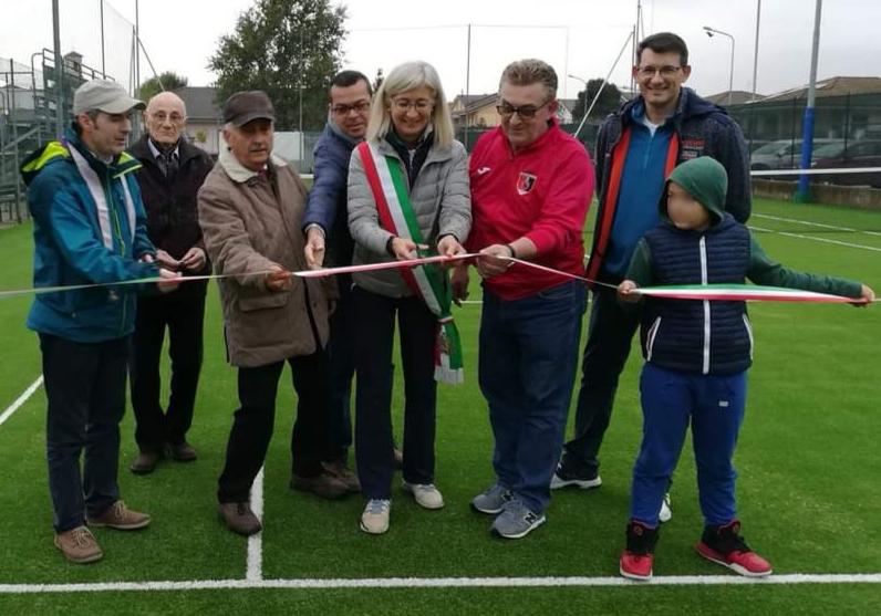 L'inaugurazione del campo da tennis di Salsasio