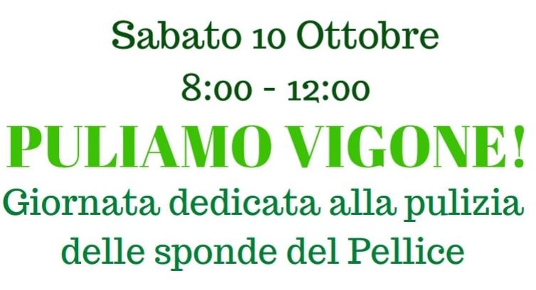 """""""Puliamo Vigone"""" sabato 10 ottobre sulle sponde del Pellice"""