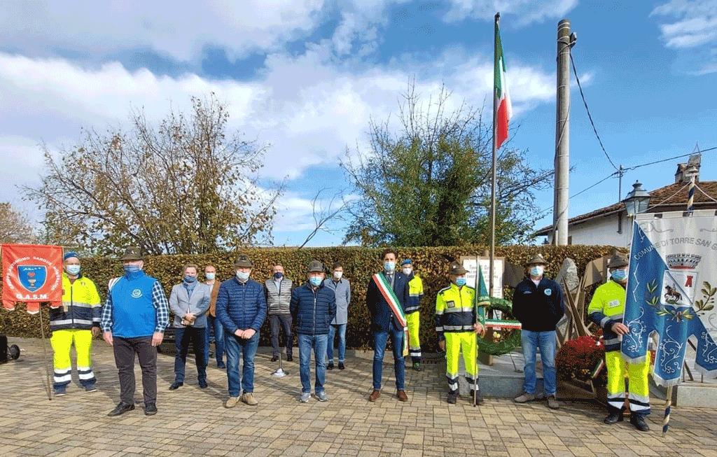Ieri a Torre San Giorgio la commemorazione del 4 novembre