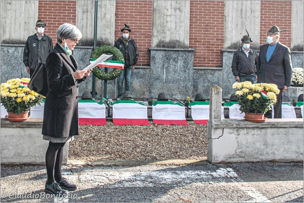 Il 4 novembre di None, con le parole del sindaco Loredana Brussino