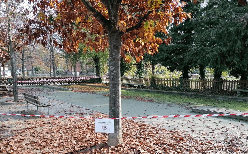 Candiolo, chiusa l'area bocce di via Roma, troppi assembramenti