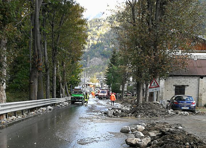 Limone Piemonte, ancora difficoltà nella viabilità dopo l'alluvione