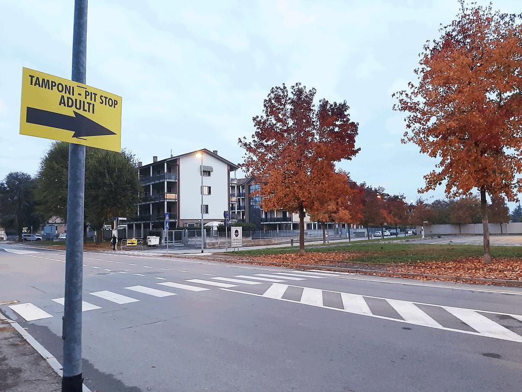 Pit stop di Carmagnola per i tamponi spostato in piazza Olimpiadi
