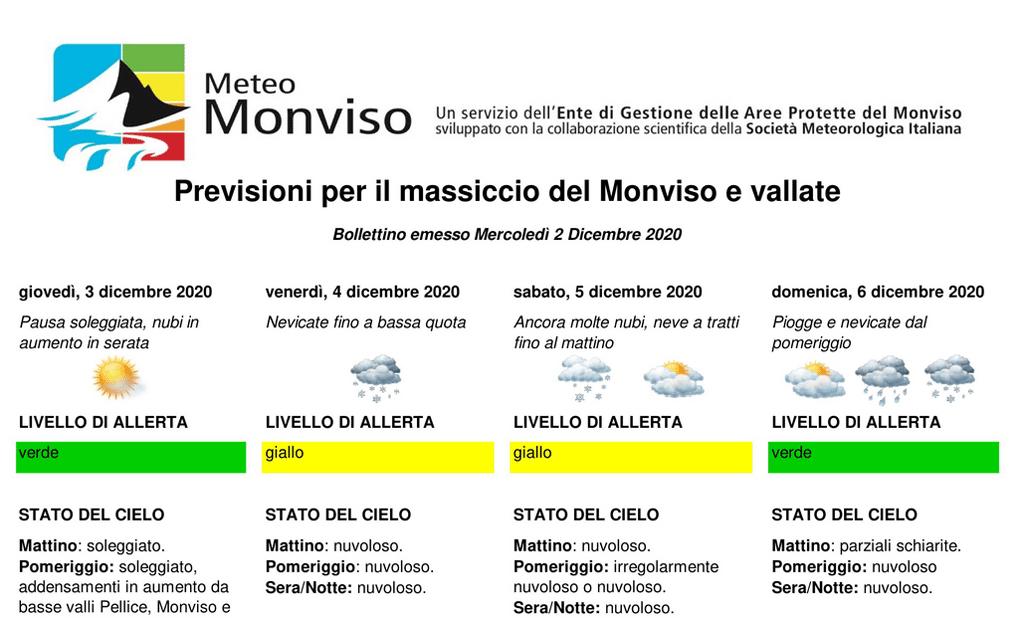 Il tempo sul massiccio del Monviso, è partito il servizio MeteoMonviso