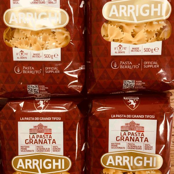 Pasta Berruto di Carmagnola sulla tavola dei giocatori granata