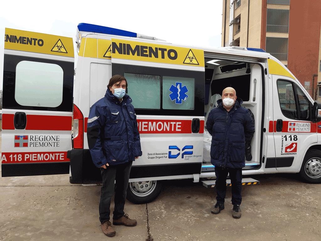 Ambulanza Maxiemergenza disponibile all'ospedale di Savigliano per il Covid