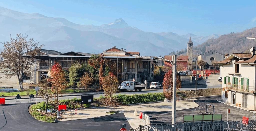 Completato il restyling di piazza Garibaldi a Rifreddo