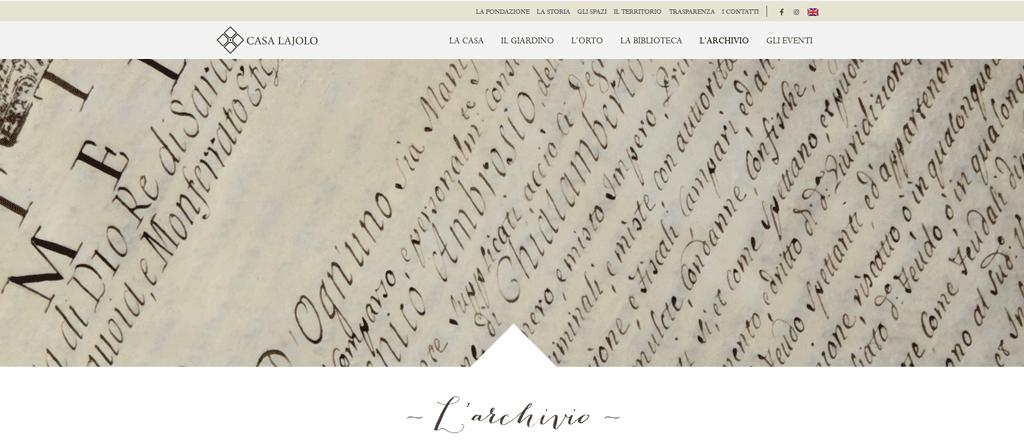 Le antiche carte di Casa Lajolo digitalizzate e consultabili online