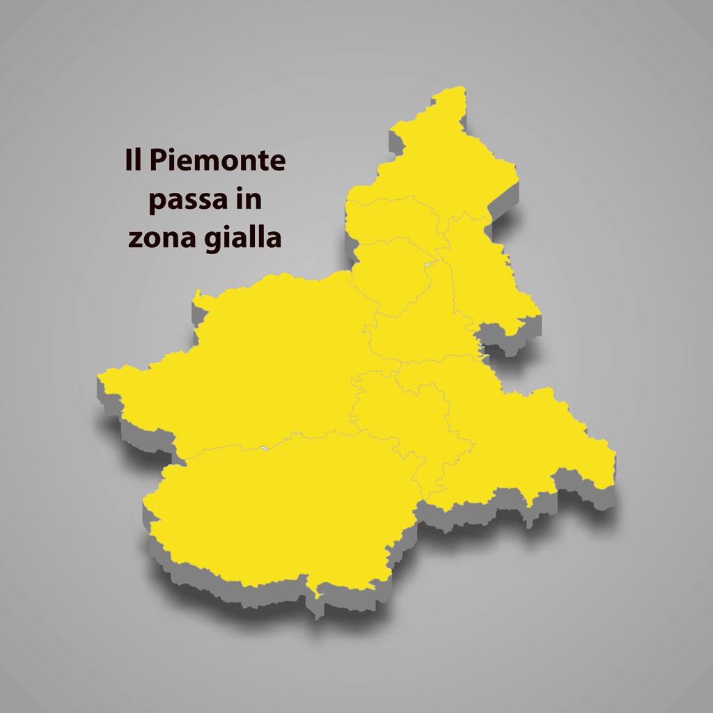 Piemonte in zona gialla in base all'ordinanza del Ministro Speranza