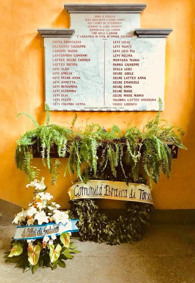 Commemorazione dei 29 ebrei deportati da Saluzzo