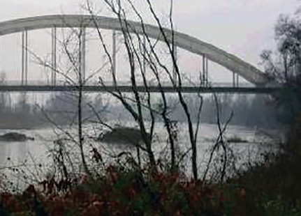 Carignano, lavori al ponte sul Po da martedì 26 gennaio