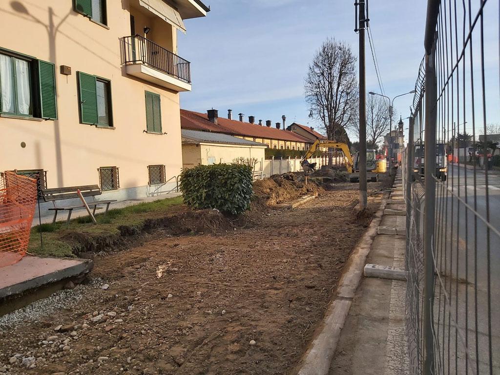 Rifacimento pista ciclopedonale di via Roma a Caramagna Piemonte