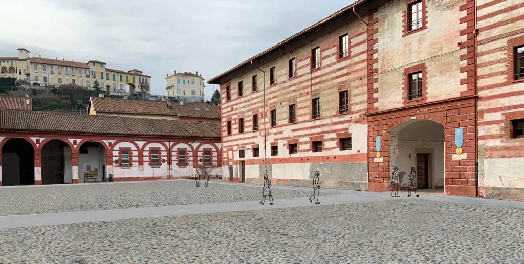Si prepara il restauro del cortile d'onore dell'ex caserma Musso di Saluzzo