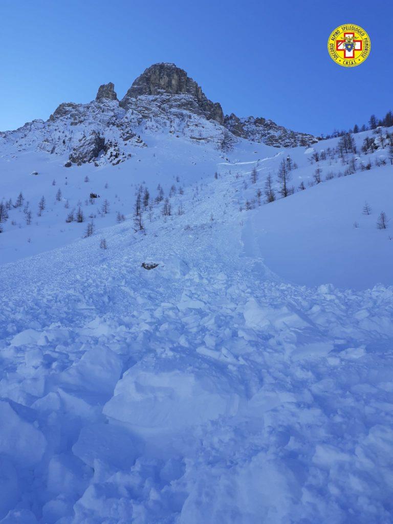 Valanga Valle Maira gennaio soccorso alpino la pancalera