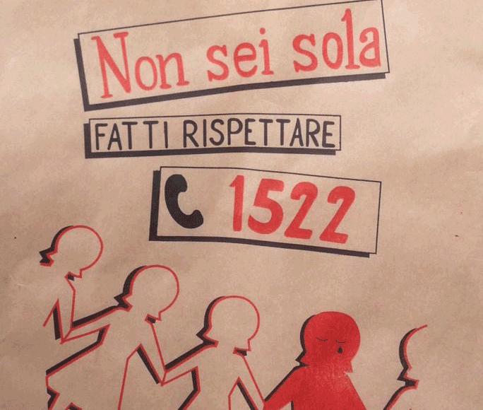 Sulla busta del pane il numero antiviolenza 1522: un aiuto per le donne