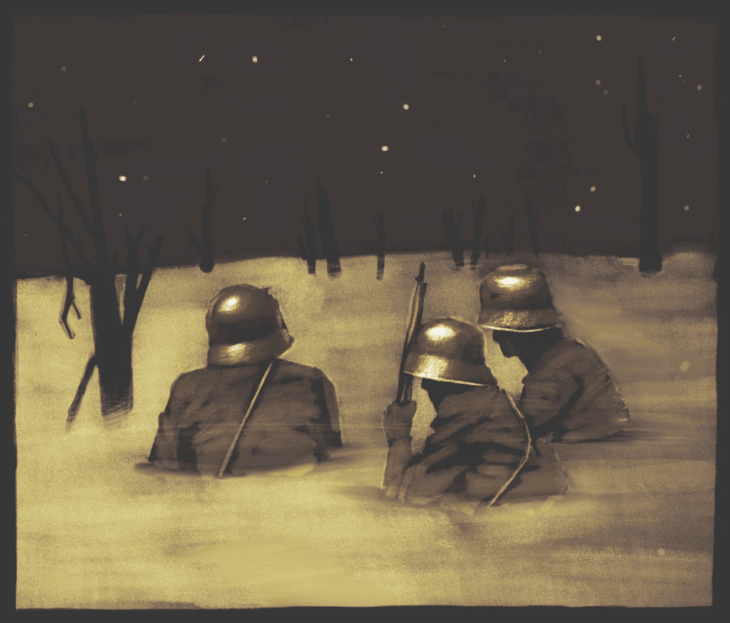 """Marco Cazzato, illustratore di """"Niente di nuovo sul fronte occidentale"""" a Racconigi"""