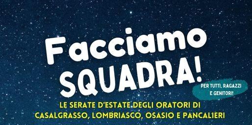 Oratori di Casalgrasso, Lombriasco, Pancalieri e Osasio insieme per i ragazzi