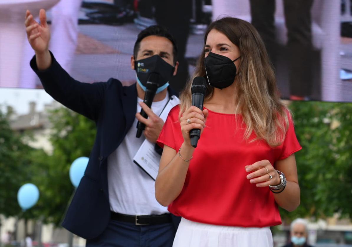 A Cuneo festa in piazza per la campionessa di sci Marta Bassino