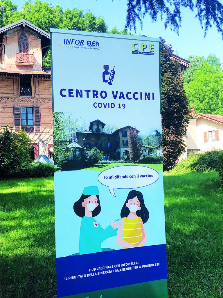 Hub Vaccinale Aziendale CPE INFOR ELEA pinerolo la pancalera