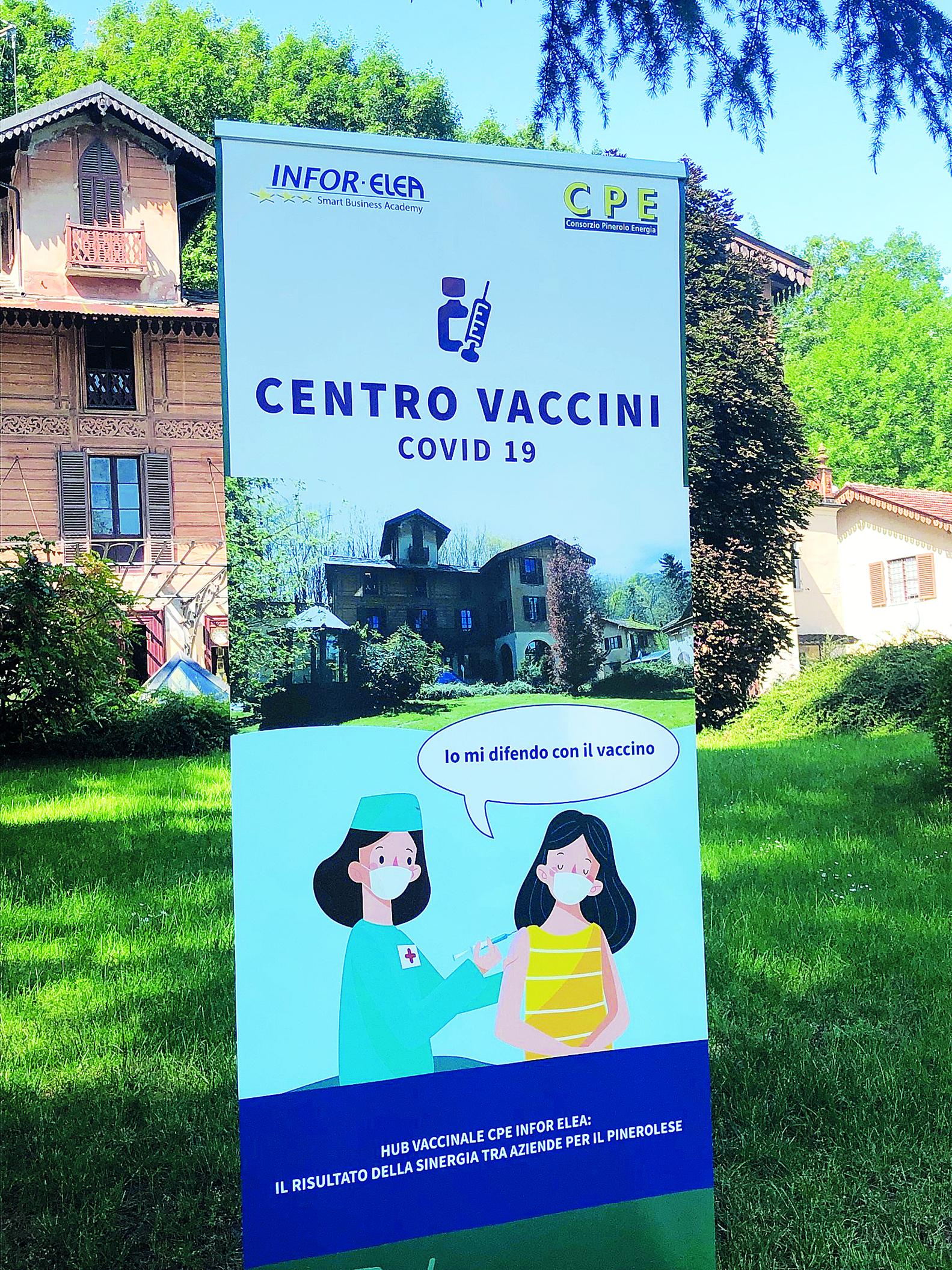 Attivo l'hub vaccinale per i dipendenti delle aziende del pinerolese