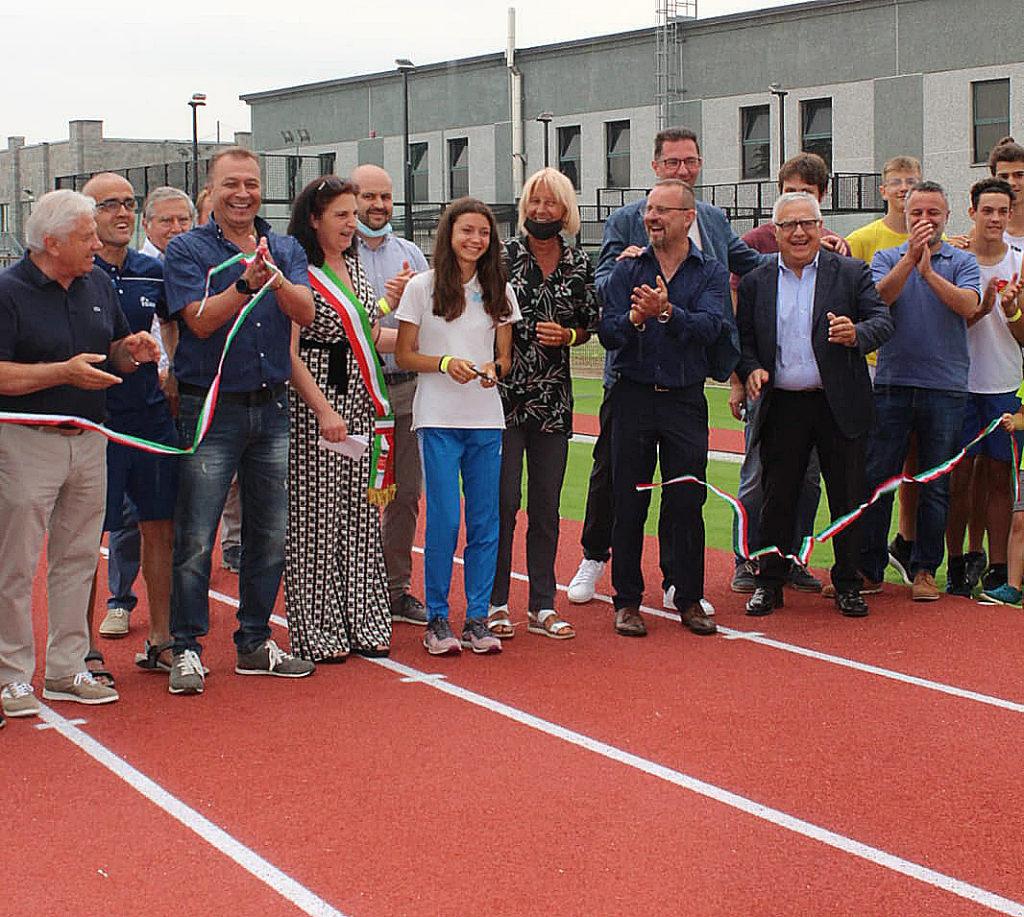 Inaugurazione pista atletica 4 luglio caramagna piemonte la pancalera