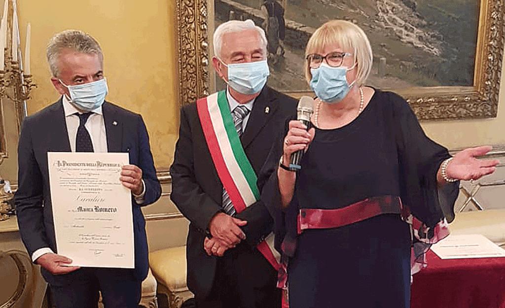 Maura-Romero-cavaliere-merito-repubblica-italiana-carmagnola-la-pancalera
