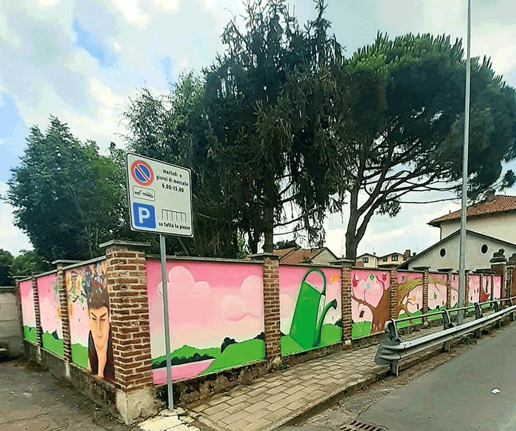 A Piobesi Torinese un murales che racconta il diritto all'istruzione