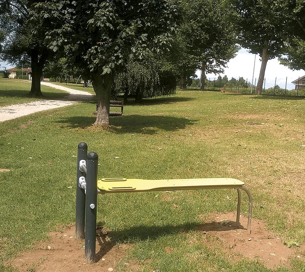 Nuovo percorso fitness al parco Cascina Vigna di Carmagnola