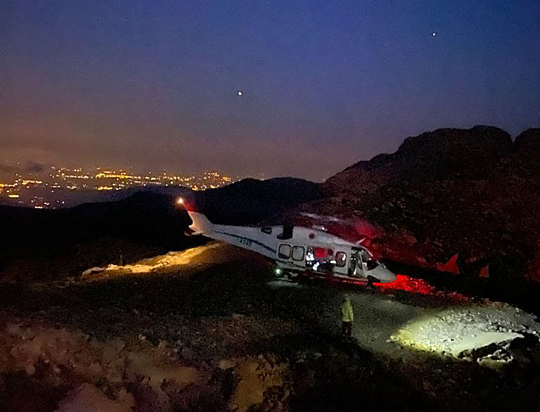 Soccorso Alpino, sul Monviso collaudata rotta notturna elisoccorso