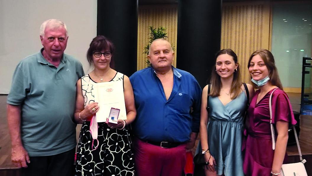 Floriana Pretto ha ricevuto dalla Fidas l'alta onorificenza Re Rebaudengo