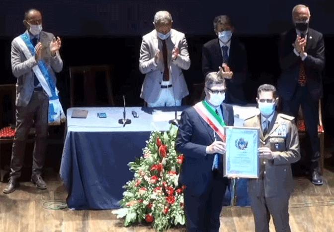 Il generale Francesco Figliuolo è cittadino onorario di Saluzzo
